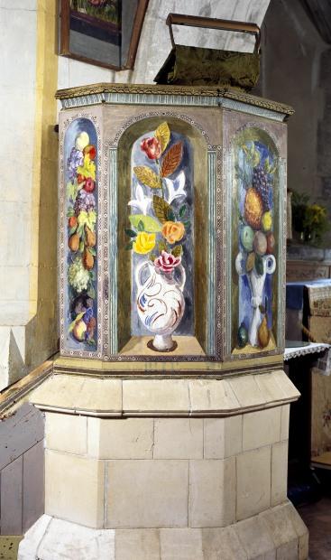 Pulpit panel detail Duncan Grant